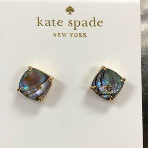New Kate spade abalone gold stone Mini earring